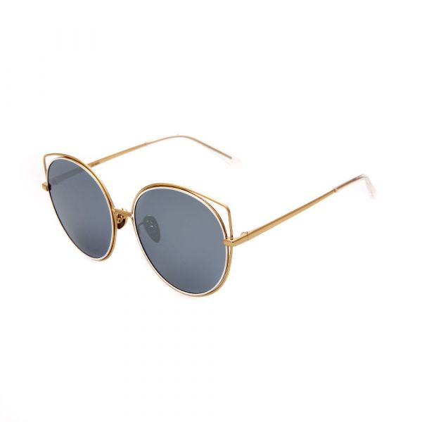 WHOOSH Sunnies Series Gold Cateye DE16203 C01 Sunglasses