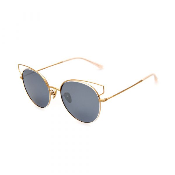 WHOOSH Sunnies Series Gold Cateye DE16213 C01 Female Sunglasses