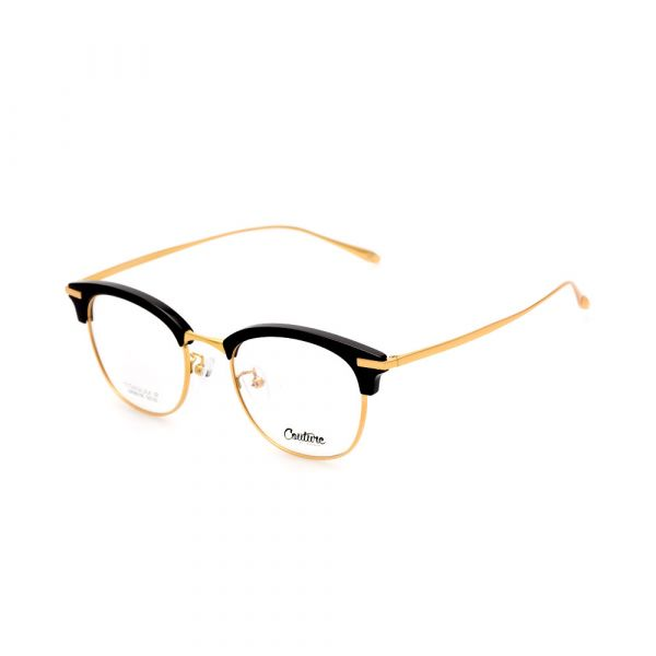 WHOOSH Couture Vintage Series Black/Gold DFM5105 C1 Unisex Eyeglasses
