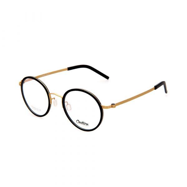 WHOOSH Couture Vintage Series Black/Gold DFTI6289 C1 Unisex Eyeglasses