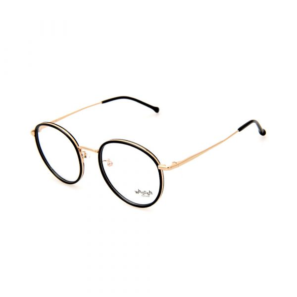 WHOOSH Trendy Series Black/Gold Round WFIH1006 C36 Eyeglasses
