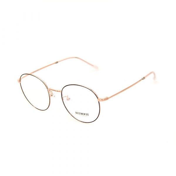 RETROFIT WFIH1033 C1 Rose Gold Slim Eyeglasses