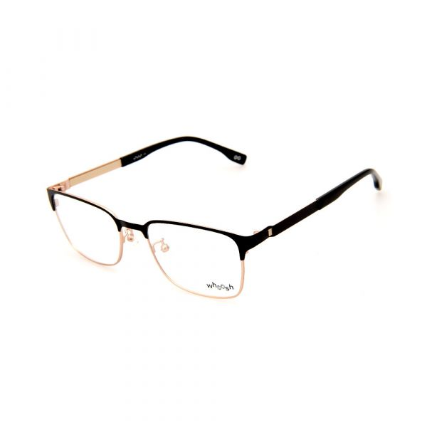 WHOOSH Urban Series Black/Gold Rectangle HE2290 C2 Eyeglasses