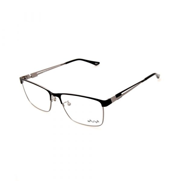 WHOOSH Urban Series Black/Silver Rectangle HE2292 C1 Eyeglasses