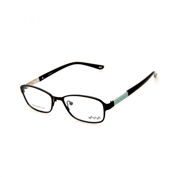 WHOOSH Urban Series Black/Tiffany Blue Rectangle HE5219 C1 Eyeglasses