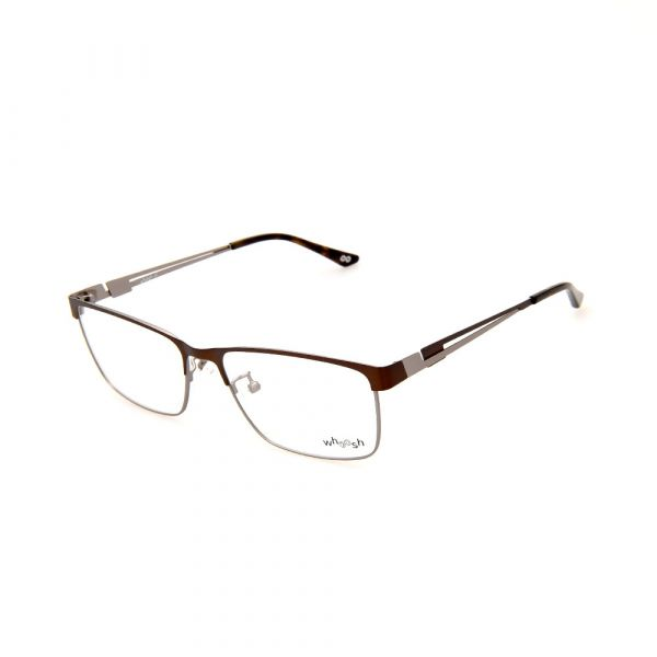 WHOOSH Urban Series Brown/Silver Rectangle HE2292 C2 Eyeglasses