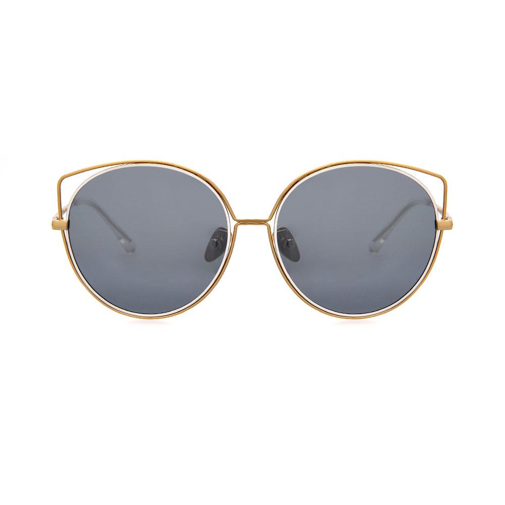 WHOOSH Sunnies Series Gold Cateye DE16203 C01 Sunglasses