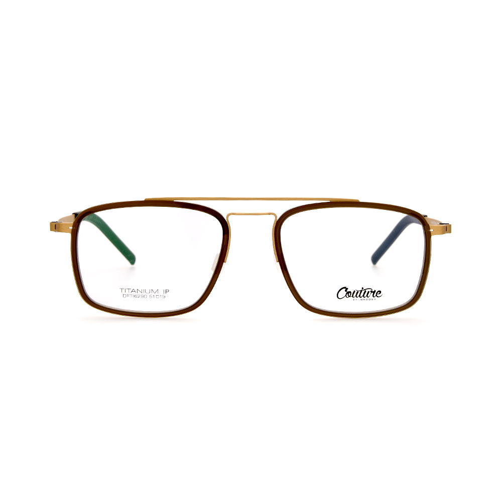 WHOOSH Couture Vintage Series Brown/Gold DFTI6290 C3 Male Eyeglasses