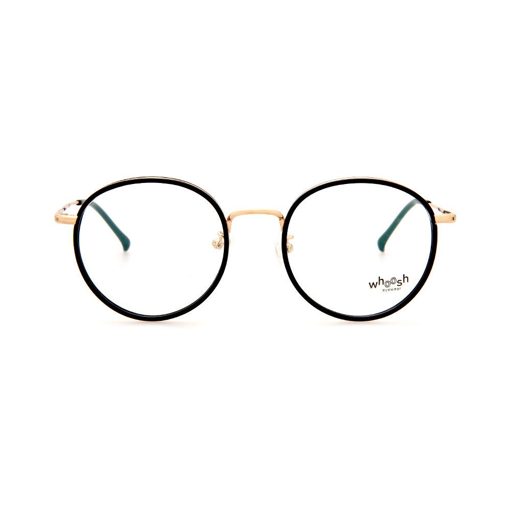 WHOOSH Trendy Series Black/Gold Round WFIH1006 C36 Eyeglasses