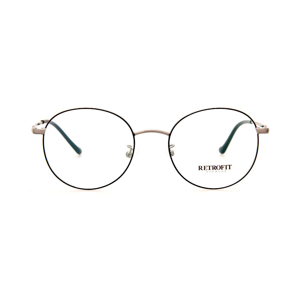 RETROFIT WFIH1031 C3 Silver/ Grey Round Eyeglasses