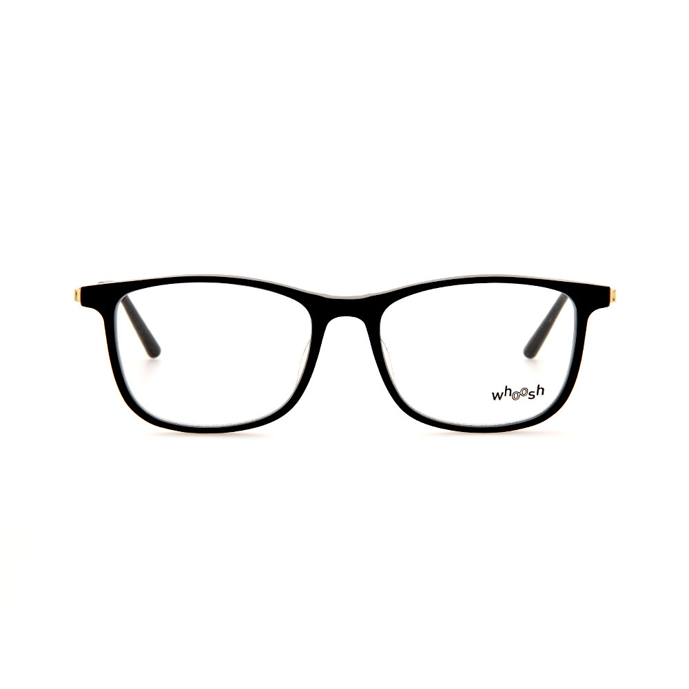 WHOOSH Vintage Series Black/Gold Rectangle TT4202 C1 Eyeglasses