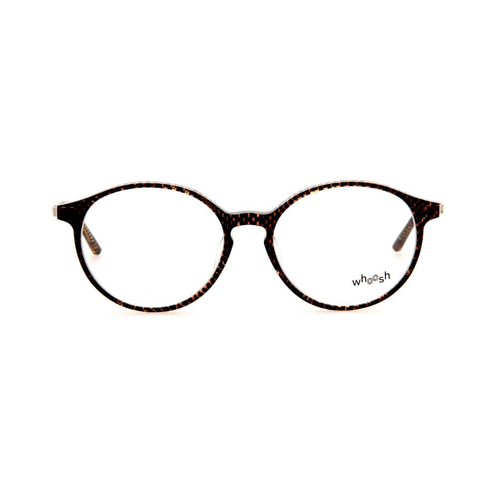 WHOOSH Vintage Series Brown Checkered Oval TT4203 C3 Eyeglasses