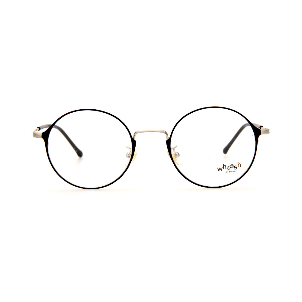 WHOOSH Urban Series Black/Silver Round WFIH1012 C11 Eyeglasses