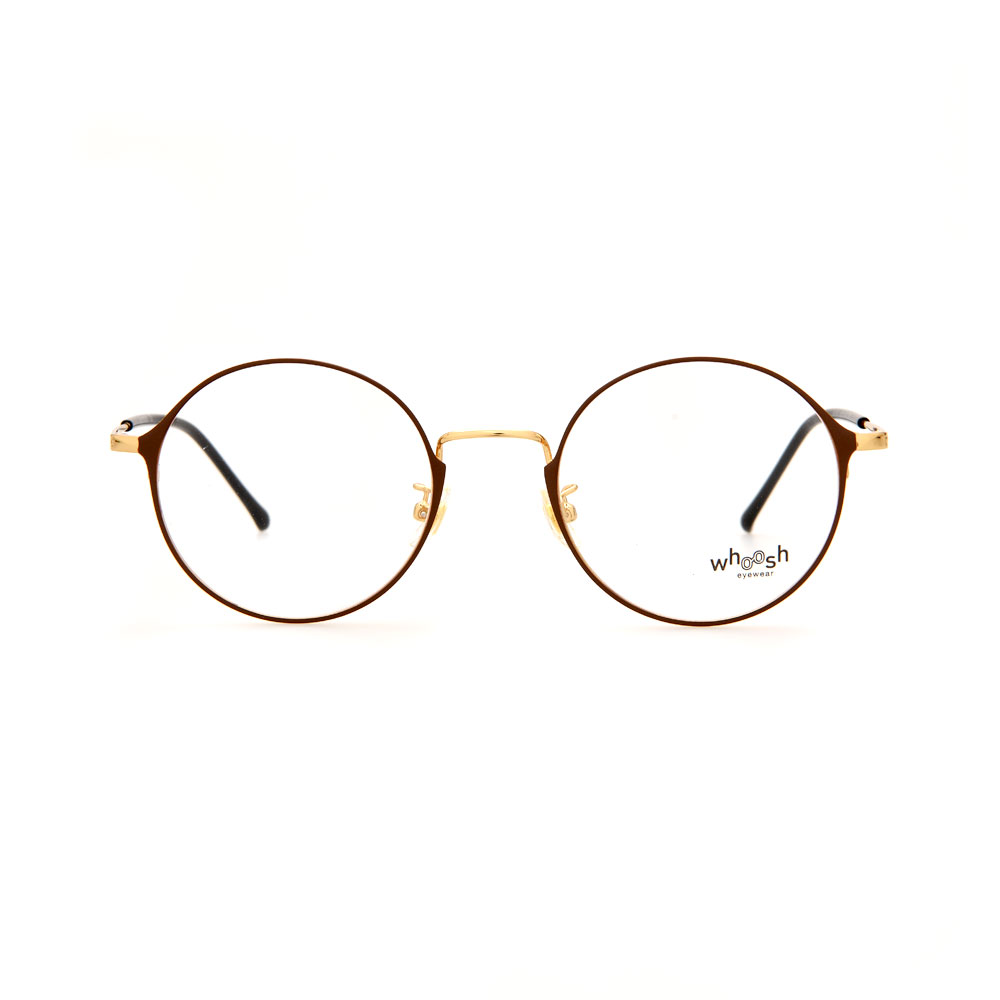 WHOOSH Urban Series Brown/Gold Round WFIH1012 C9 Eyeglasses
