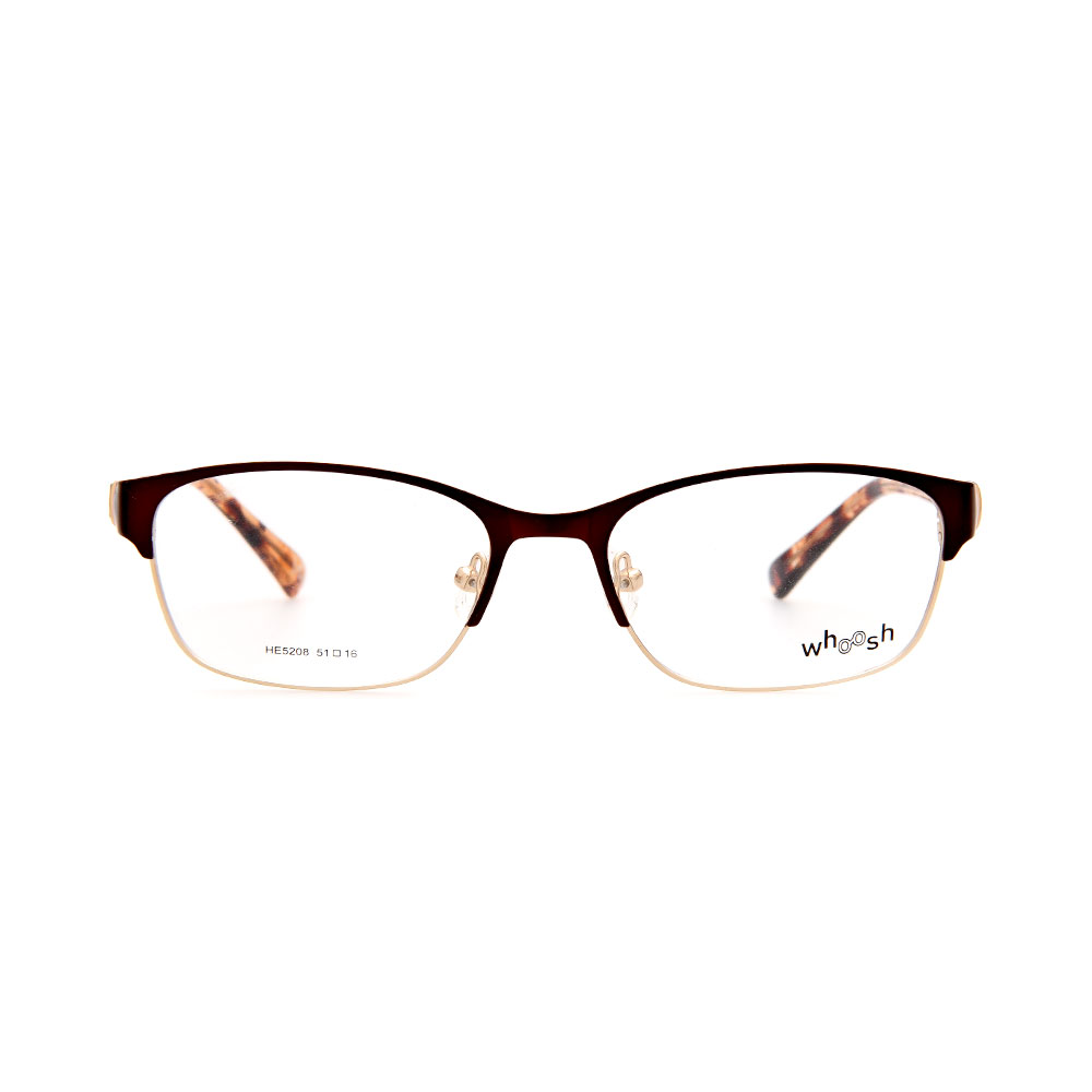 WHOOSH Urban Series Light Brown Rectangle HE5208 C3 Woman Eyeglasses