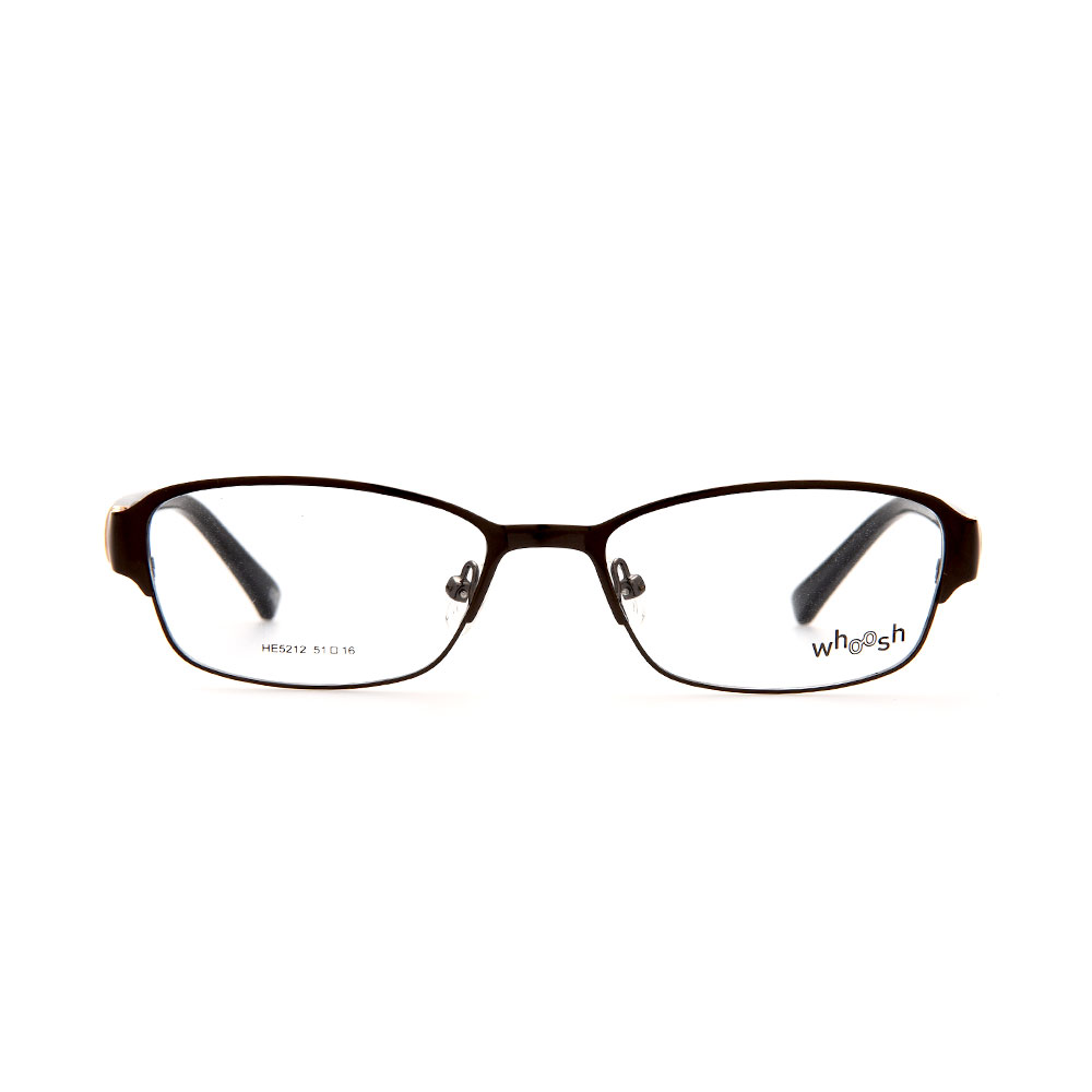 WHOOSH Urban Series Black Rectangle HE5212 C1 Woman Eyeglasses
