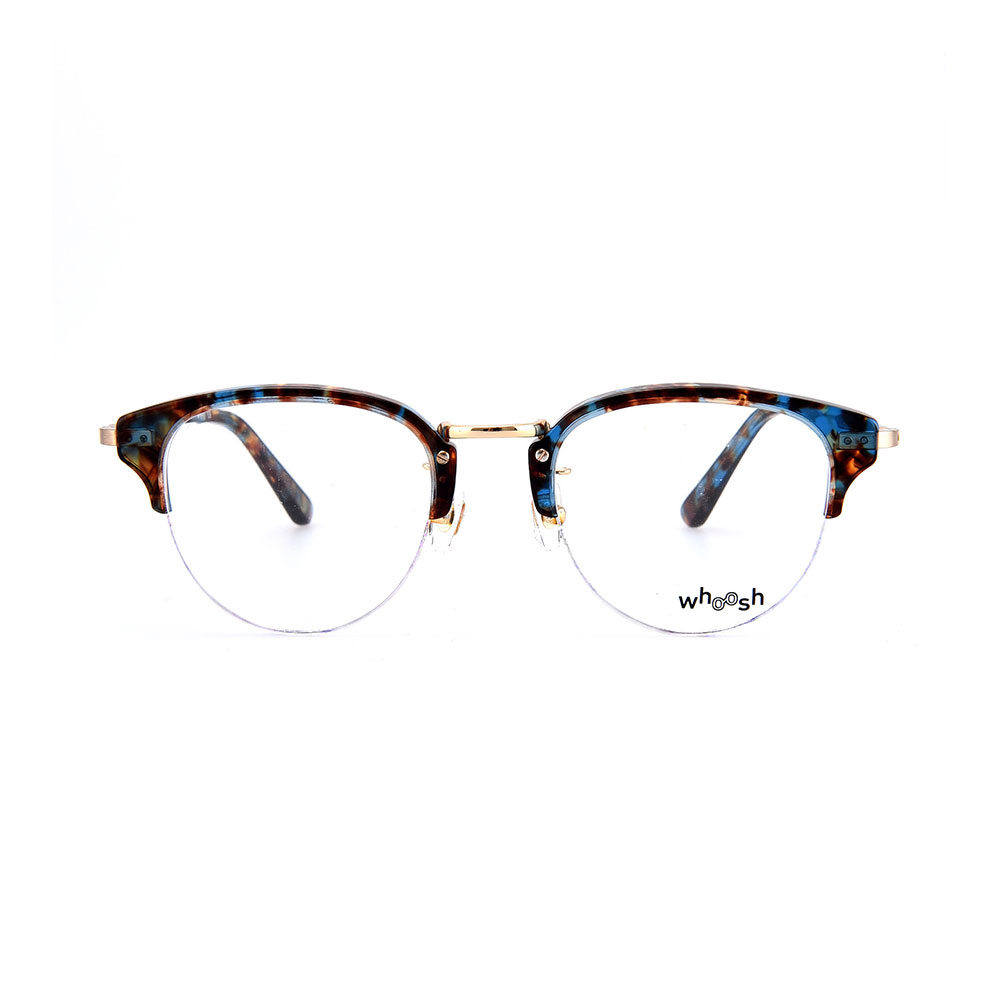 WHOOSH Vintage Series Blue Leopard Clubmaster HES-135 C3 Eyewear